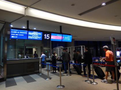 シンガポール2014.5成田空港デルタ航空シンガポール行