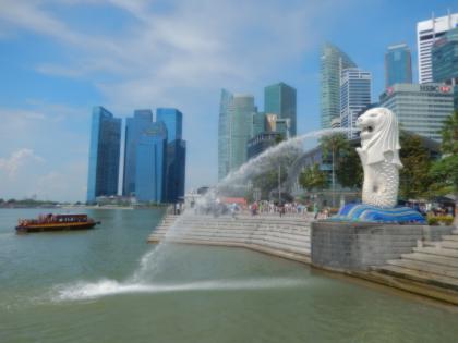 シンガポール2014.5マーライオン