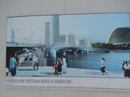 シンガポール2014.5マーライオン人道橋予想図