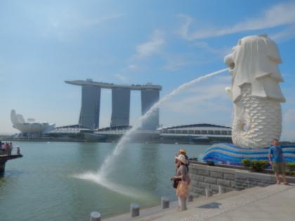 シンガポール2014.5マーライオン・マリーナベイサンズ