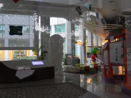 シンガポール2014.5観光庁舎内マーライオン