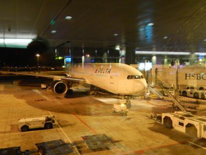 シンガポール2014.5チャンギ空港デルタ機