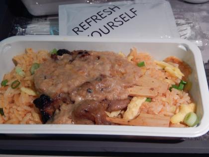 シンガポール2014.5デルタ航空機内食帰路