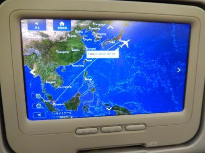 シンガポール2014.5デルタ航空機内帰路