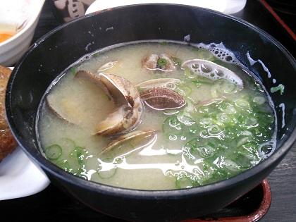 朝定食貝汁001