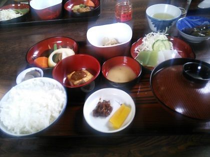 榧の木 山菜定食001