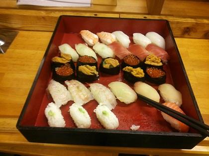 雲仙みかどホテル 夕食 寿司001