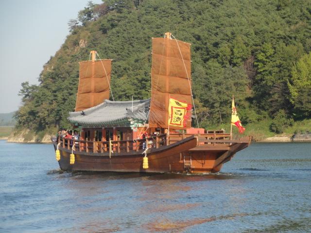 2012年10月14日 扶余 白馬江遊覧船
