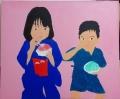 「7歳の夏祭り」塗り7回目