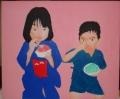 「7歳の夏祭り」塗り8回目