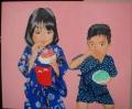 「7歳の夏祭り」塗り10回目