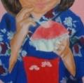 「7歳の夏祭り」塗り18回目(2)