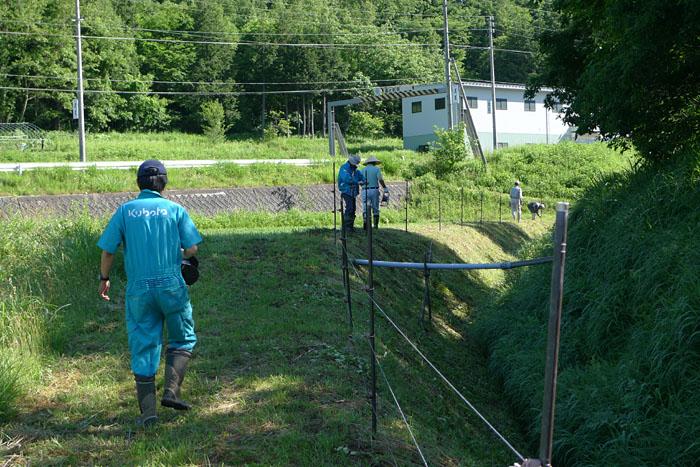 電柵設置 2014 梅雨 時 農作業