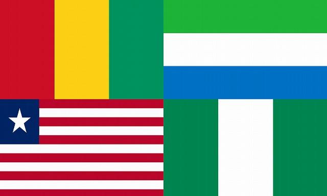 エボラ4ヶ国国旗