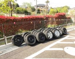 タイヤたくさん