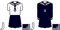 [東京]白百合学園中学校・高等学校制服ドット絵