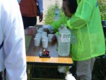 ウォーキング大会給水所