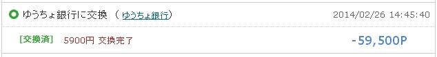 ゆうちょ銀行への申請5900