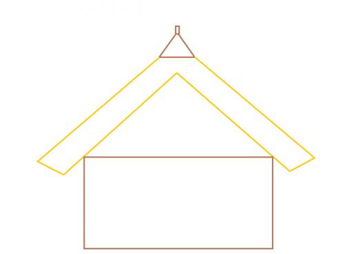直線の屋根