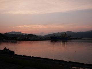 舞鶴ホテル近く 夕景