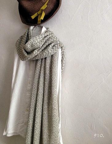 201405 4種織りストール(khaki)