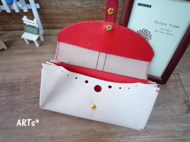 赤いベルトの長財布 (3)