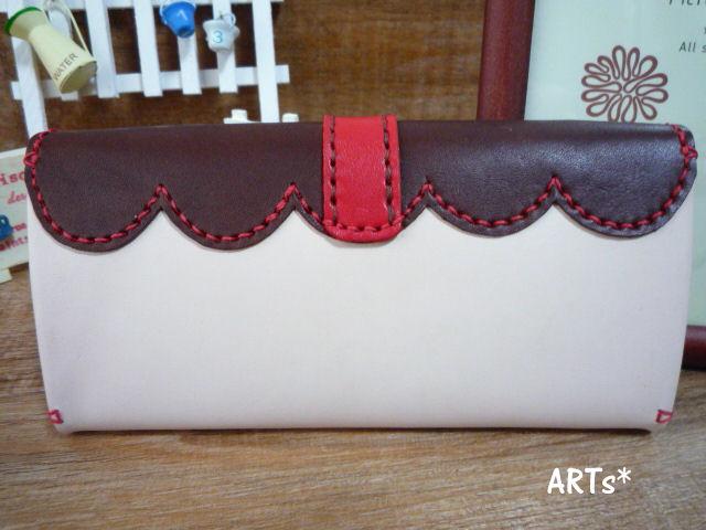 バイカラーの長財布 (2)