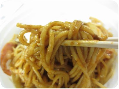 カレースパゲティー+目玉焼き