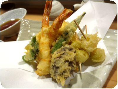 天ぷら盛り合わせ+銀杏天3つ