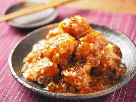 鶏唐揚げのネギ甘酢ソース