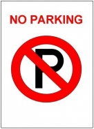 No Parkingのポスターテンプレート・フォーマット・雛形