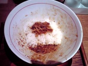 麺と心 7 煮干し香る味噌まぜそば(〆ご飯)