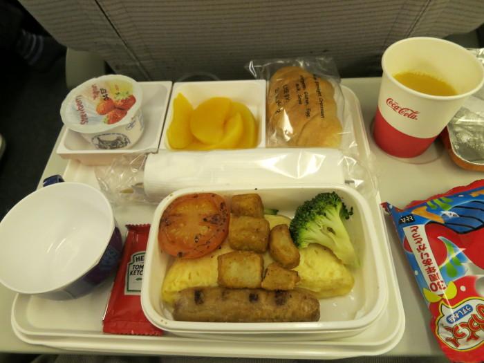イギリス~成田 機内食 JAL