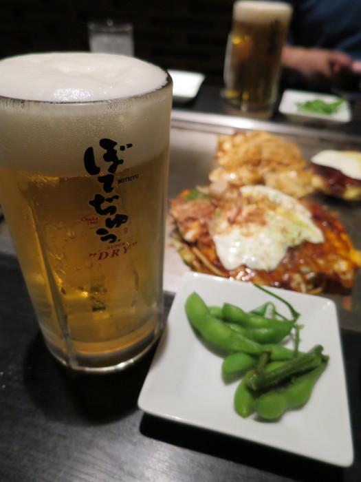 ぼでぢゅう モダン焼き ビール