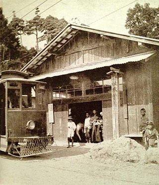 木曾三社神社停車場・大正時代頃の写真