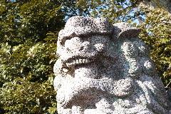 木曾神社狛犬①
