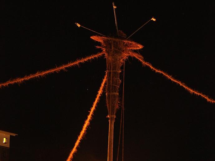 輪島大祭のクライマックスを飾る松明