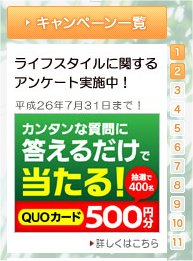 しずぎんライフスタイルアンケートでQUOカード500円分が当たるかも?