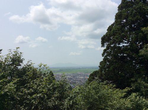 そして見晴台に到着@加茂山公園