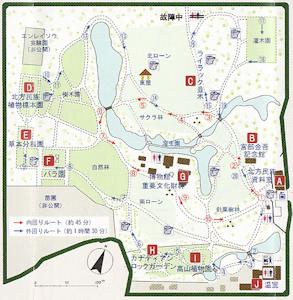 植物園の地図