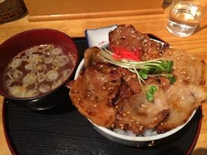 らーめん五朗のミックス豚丼