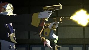 炎刀・銃を使う右衛門左衛門