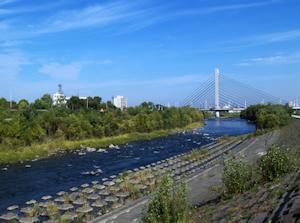 豊平川とミュンヘン大橋
