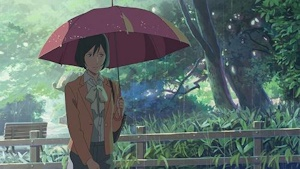 傘を差す百香里