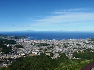 天狗山から見た小樽市街