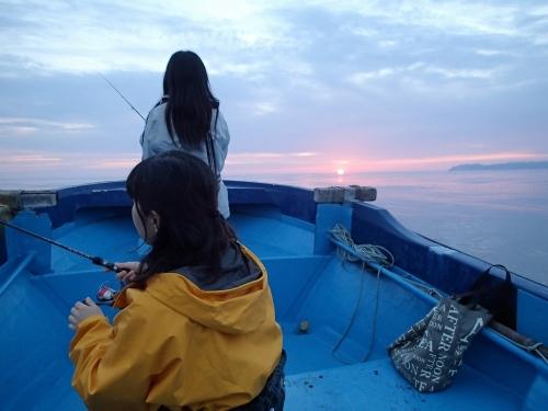 夕方ボート
