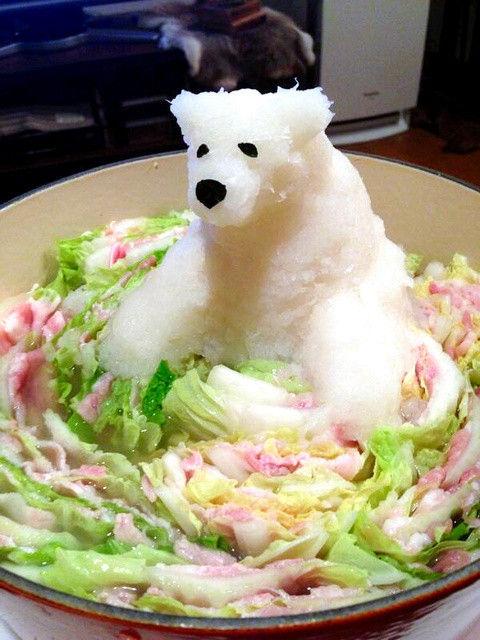大根おろし白クマ
