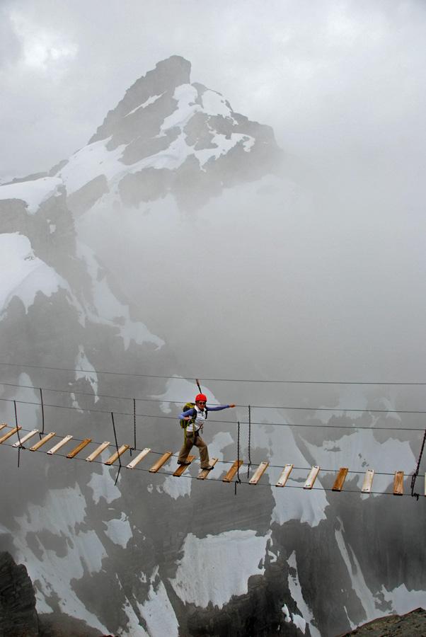ニンバス山のスカイウォーキング