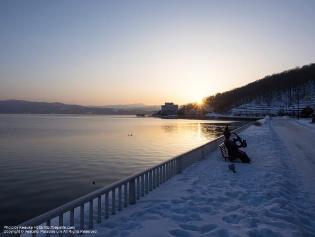 洞爺湖の日の出