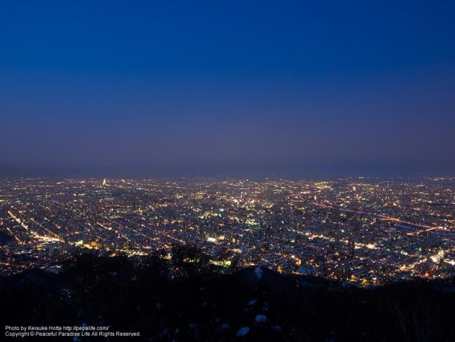 札幌市街の夜景(藻岩山(もいわやま)より)